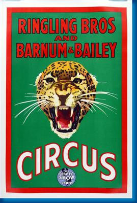 Ringling Bros. Circus Leopard poster| theposterdepot.com