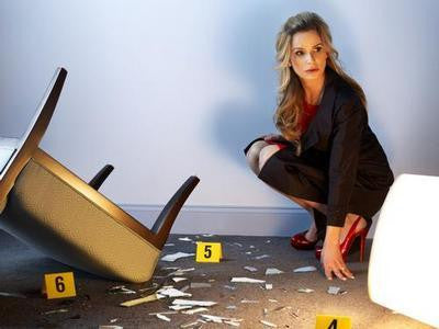 Closer Kyra Sedgwick Crime Scene 11x17 Mini Poster