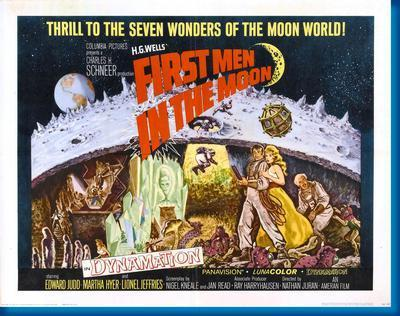 First Men In The Moon movie poster Sign 8in x 12in