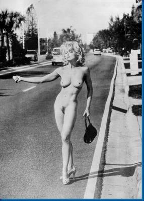 Madonna Nude Hitchhiker poster| theposterdepot.com