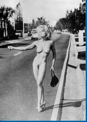 Madonna Nude Hitchhiker poster 27x40| theposterdepot.com