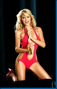 Paris Hilton Red Swimsuit poster| theposterdepot.com