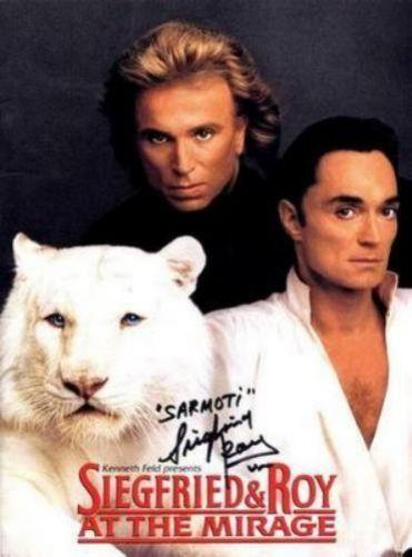 Siegfried And Roy Photo Sign 8in x 12in