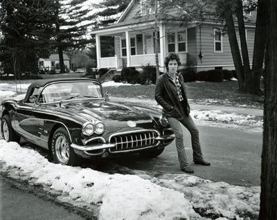 Bruce Springsteen Corvette poster tin sign Wall Art
