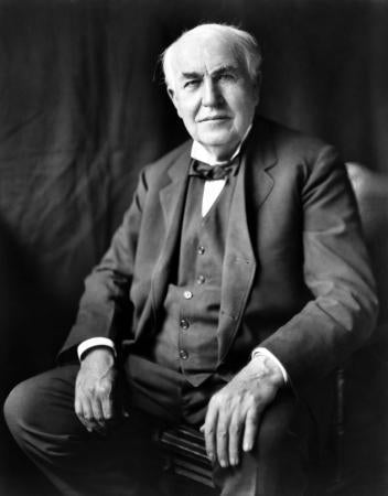Thomas Edison Photo Sign 8in x 12in