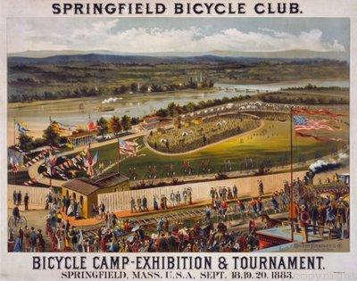 Bicycle Camp 1883 Photo Sign 8in x 12in