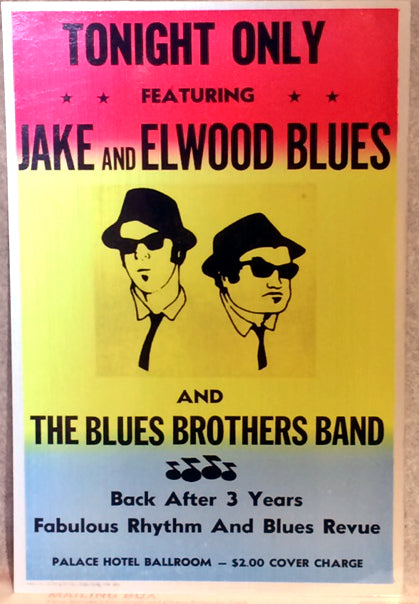 Blues Brothers poster Artisan Metal Sign Wall Art 8in W x 12in H