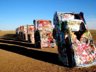 Cadillac Ranch poster| theposterdepot.com