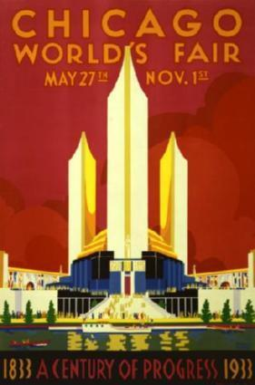 Chicago Worlds Fair Art Poster 24in x 36in - Fame Collectibles