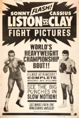 Cassius Clay Sonny Liston Fight Poster 11x17 Mini Poster
