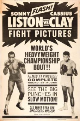 Cassius Clay Sonny Liston Fight poster 27x40| theposterdepot.com