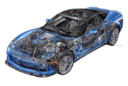 Corvette Zr1 Cutaway 11inx17in Mini Poster #01