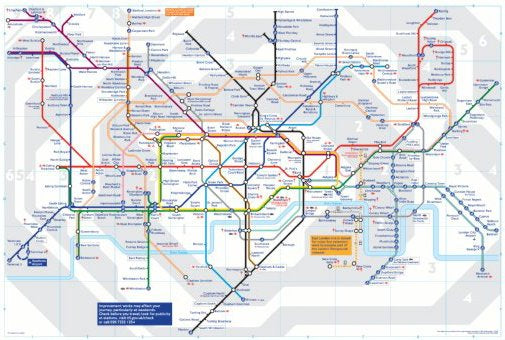 London Tube Underground Map 01 24x36