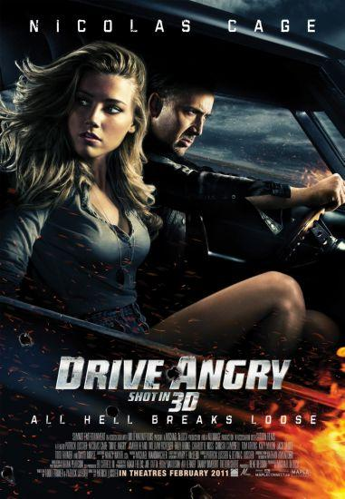 Drive Angry movie poster Sign 8in x 12in