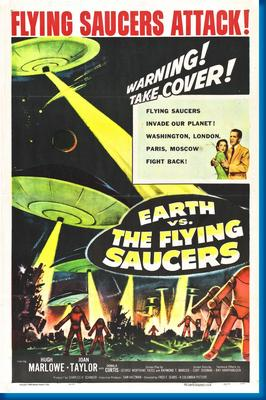 (24inx36in ) Earth Vs Flying Saucers poster