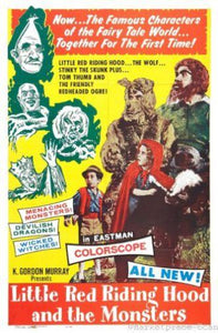 Little Red Riding Hood And Monsters poster 24x36