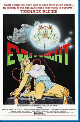 (24inx36in ) Evils Of The Night poster