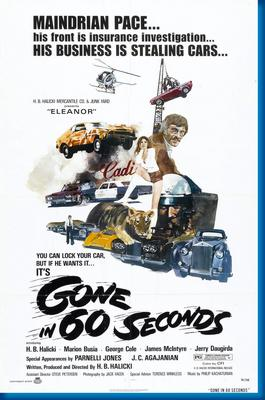 (24inx36in ) Gone In 60 Seconds poster Print