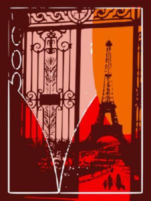 Eiffel Tower Pop Art Poster 11x17 Mini Poster