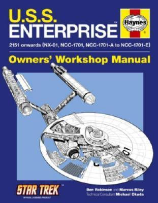 U.S.S. Enterprise Haynes Manual Poster 24in x 36in - Fame Collectibles