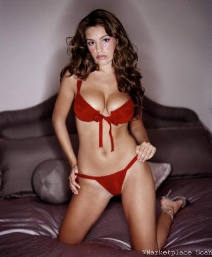 Kelly Brook Poster 24x36 red lingerie