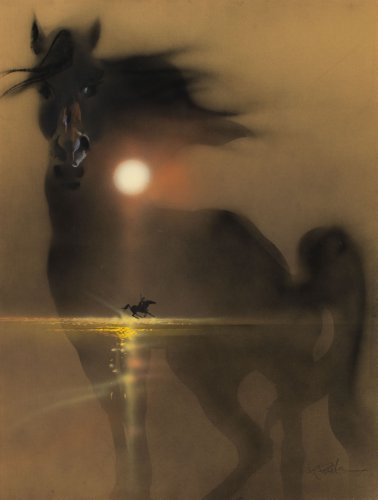 (24inx36in ) Black Stallion poster