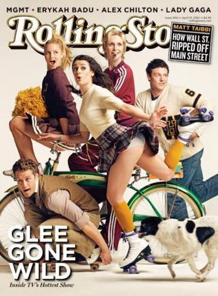 Glee Rolling Stone Cover poster tin sign Wall Art