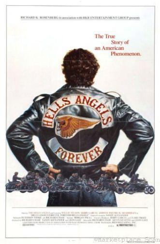 Hells Angels Forever movie poster Sign 8in x 12in