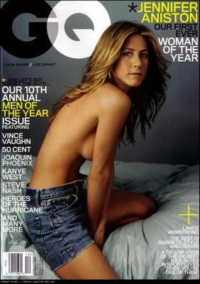 Jennifer Aniston Gq Cover poster tin sign Wall Art