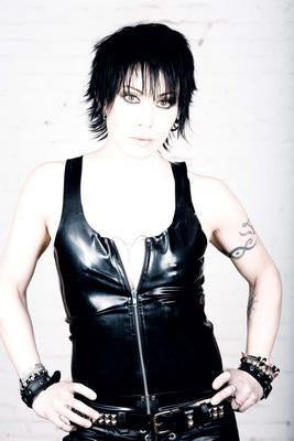 Joan Jett In Leather poster tin sign Wall Art
