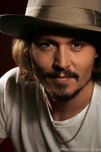 Johnny Depp Photo Sign 8in x 12in