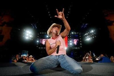Kenny Chesney On Stage poster tin sign Wall Art