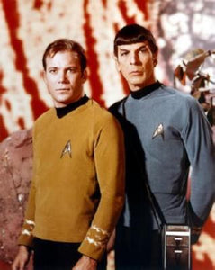 Kirk Spock Star Trek Tos Poster 24in x 36in - Fame Collectibles