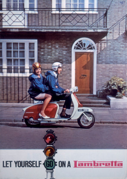 Aviation and Transportation Posters, lambretta scooter ad