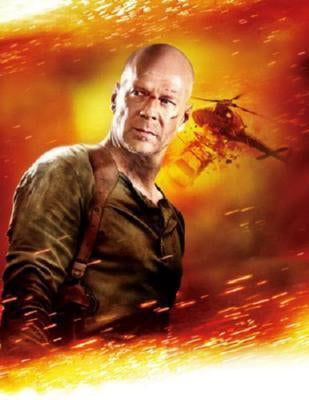 Live Free Or Die Hard Poster Bruce Willis 24inx36in - Fame Collectibles