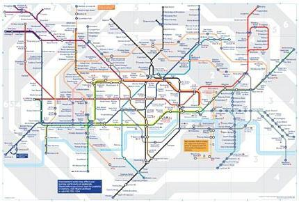 London Tube Underground Map 01 27inx40in