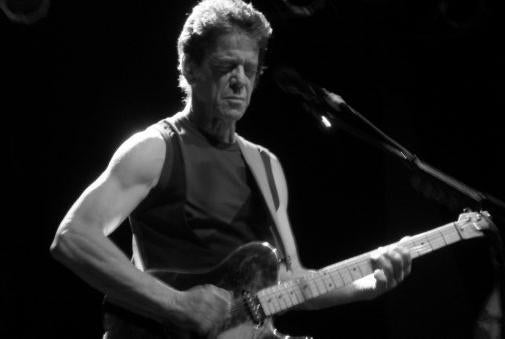 Lou Reed Photo Sign 8in x 12in