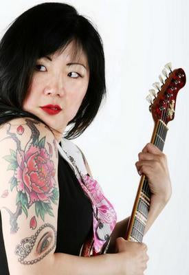 Margaret Cho Tattoos Guitar poster tin sign Wall Art