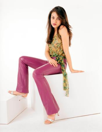 Mila Kunis Pink Pants poster tin sign Wall Art