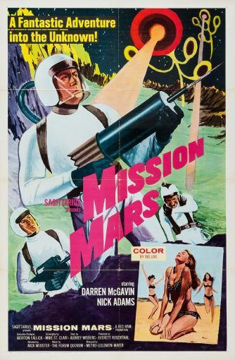 Mission Mars poster tin sign Wall Art