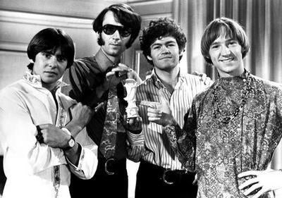 Monkees Great Bw Shot 4 poster tin sign Wall Art