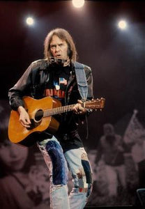 Neil Young Guitar Lights Poster 11x17 Mini Poster