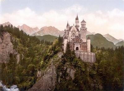 Neuschwanstein Castle Art poster tin sign Wall Art