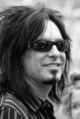 Nikki Sixx Bw Portrait poster tin sign Wall Art