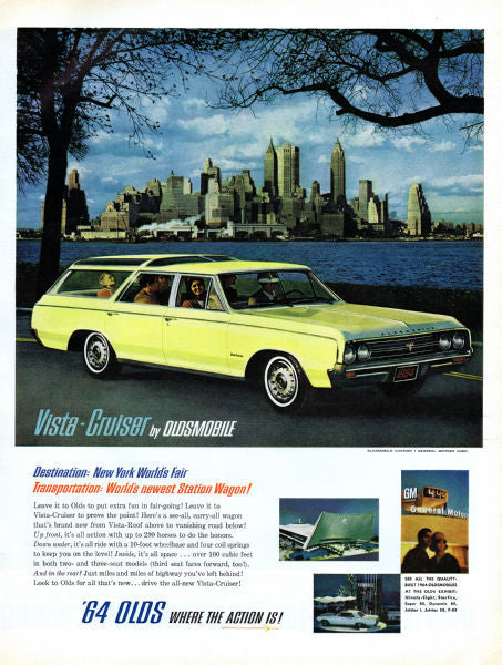 Aviation and Transportation Posters, oldsmobile ad 1964