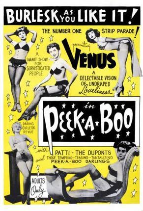 Peekaboo 1953 Burlesque poster tin sign Wall Art