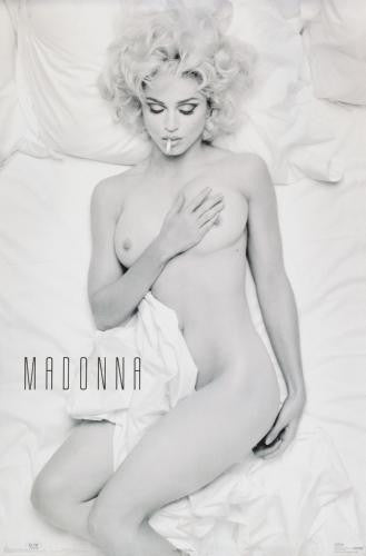 MADONNA Poster SMOKING IN BED Nude PHOTO ART 11x17 Mini Poster