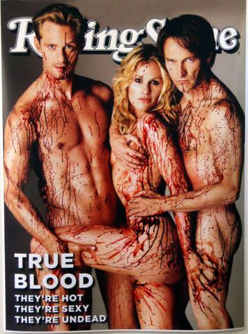 TRUE BLOOD ROLLING STONE poster tin sign Wall Art