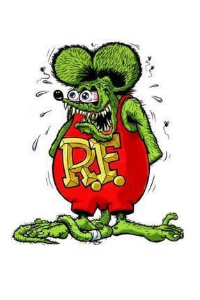 Rat Fink poster tin sign Wall Art