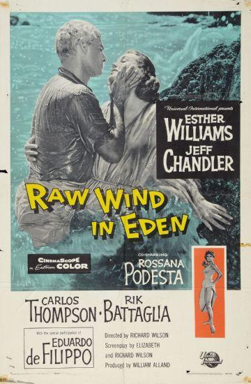 Raw Wind In Eden movie poster Sign 8in x 12in
